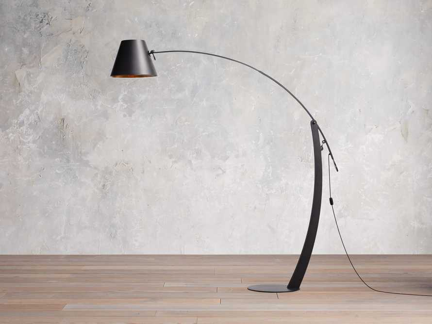 Arcadia Arc Floor Lamp in Bronze, slide 1 of 7