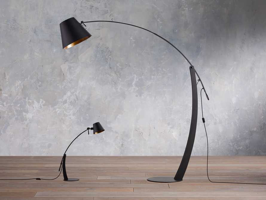 Arcadia Arc Floor Lamp in Bronze, slide 6 of 7