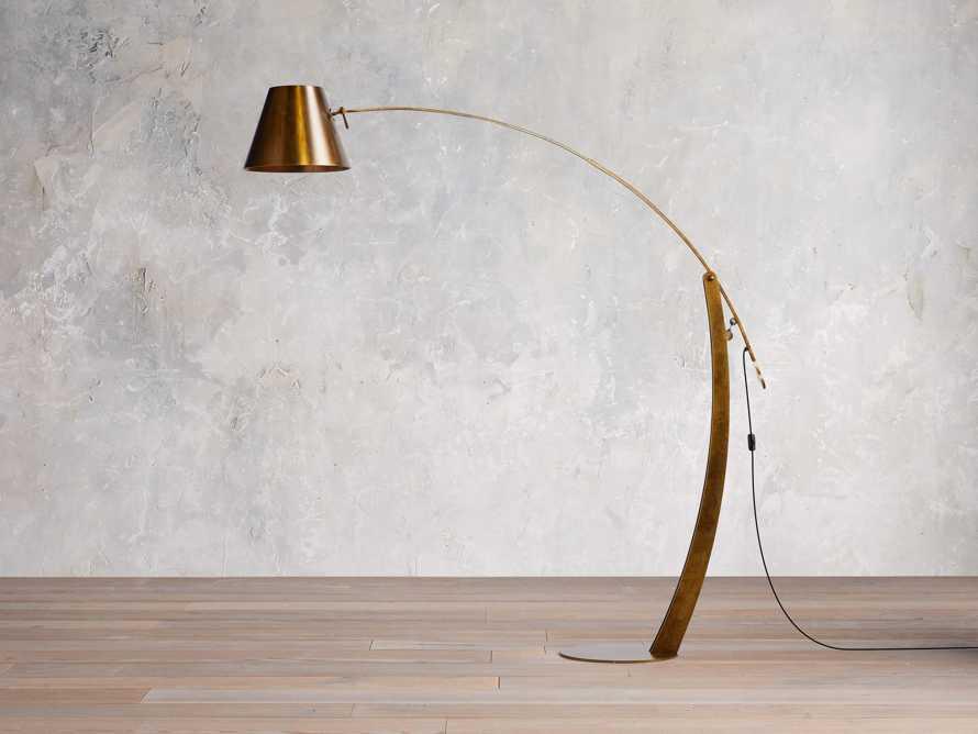 Arcadia Arc Floor Lamp in Bronze, slide 1 of 7