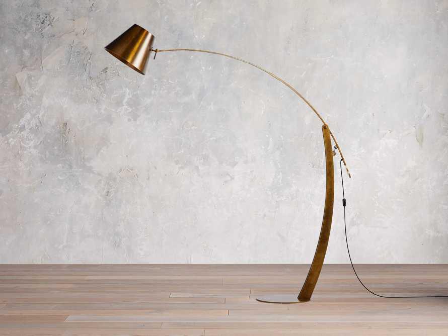 Arcadia Arc Floor Lamp in Bronze, slide 2 of 7