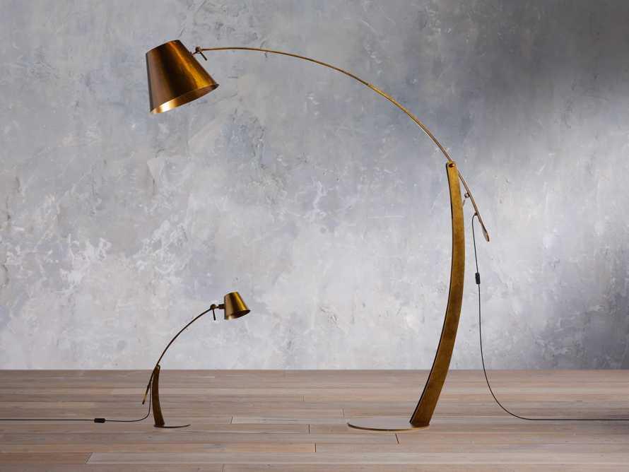 Arcadia Arc Floor Lamp in Bronze, slide 6 of 7