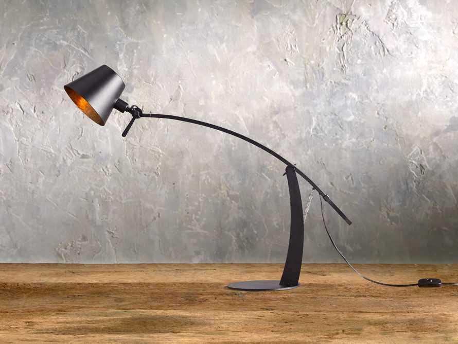 Arcadia Arc Table Lamp in Black, slide 1 of 6