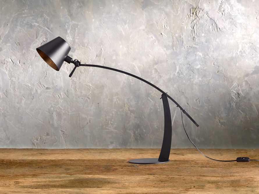 Arcadia Arc Table Lamp in Black, slide 2 of 6