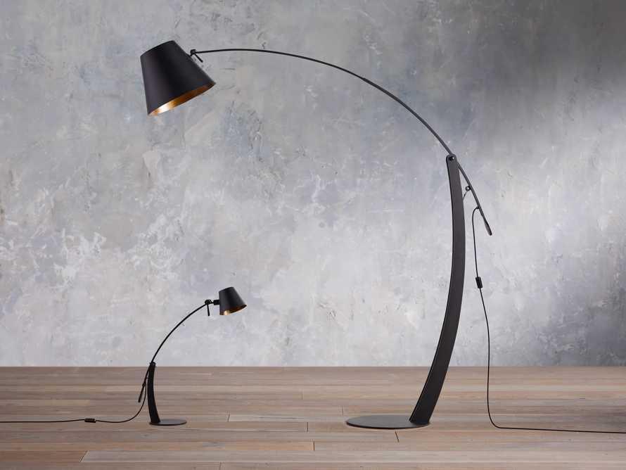 Arcadia Arc Table Lamp in Black, slide 5 of 6