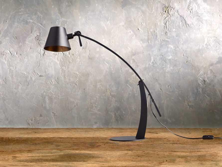 Arcadia Arc Table Lamp in Black, slide 3 of 6