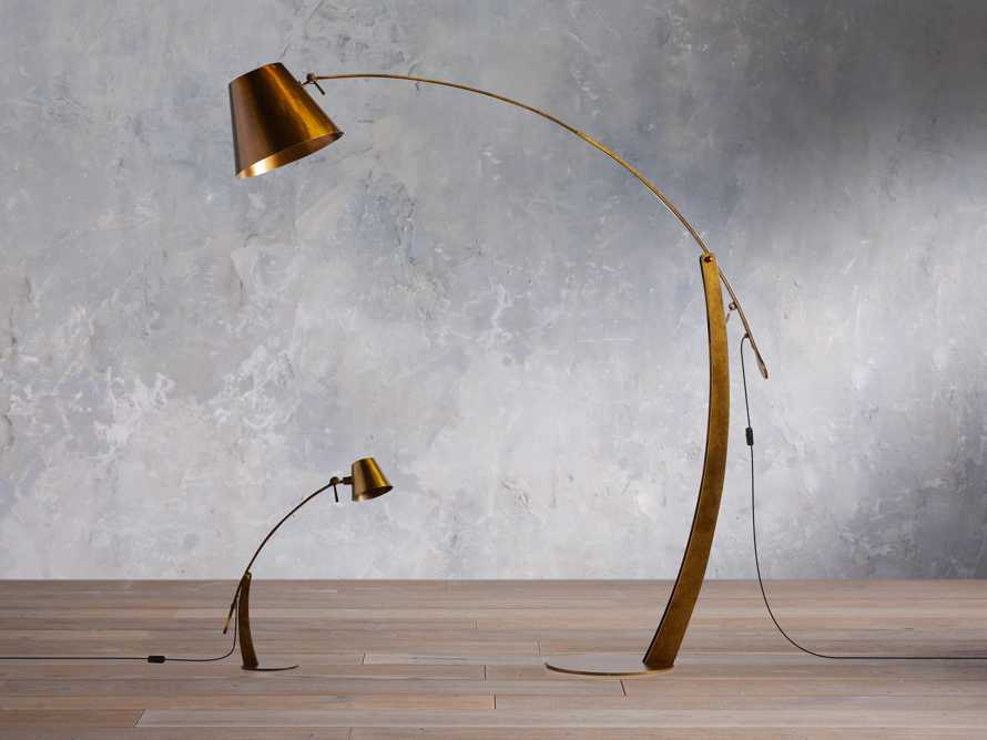 Arcadia Arc Table Lamp in Bronze, slide 5 of 5