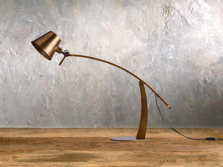 Arcadia Arc Table Lamp in Bronze, slide 2 of 5