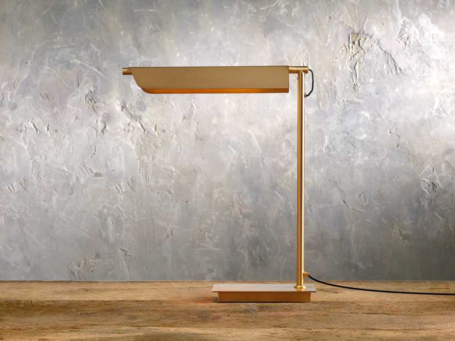 Axle Brass Task Table Lamp, slide 1 of 6