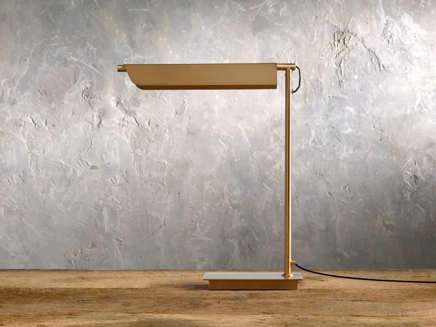 Axle Brass Task Table Lamp, slide 2 of 6