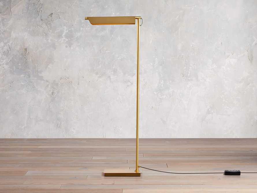 Axle Brass Task Floor Lamp, slide 1 of 8