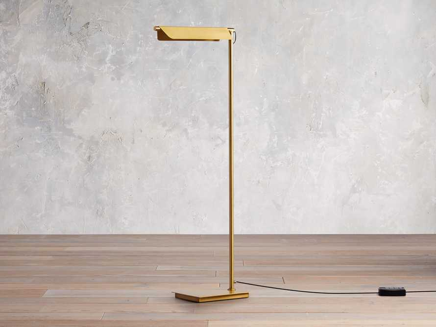Axle Brass Task Floor Lamp, slide 3 of 8