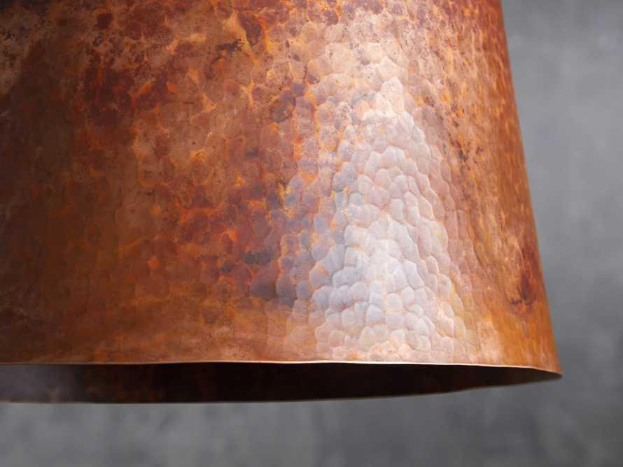 """Copper 15"""" Tapered Pendant, slide 4 of 8"""