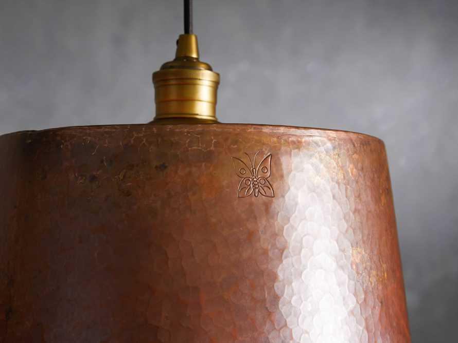 """Copper 15"""" Tapered Pendant, slide 3 of 8"""