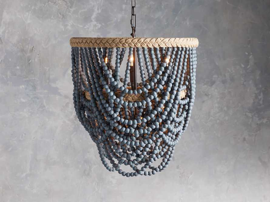 Cascade Blue Chandelier, slide 1 of 4