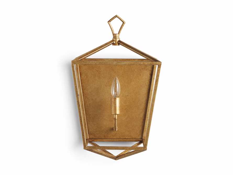 Hemisphere Garnet Wall Sconce in Brass, slide 7 of 7