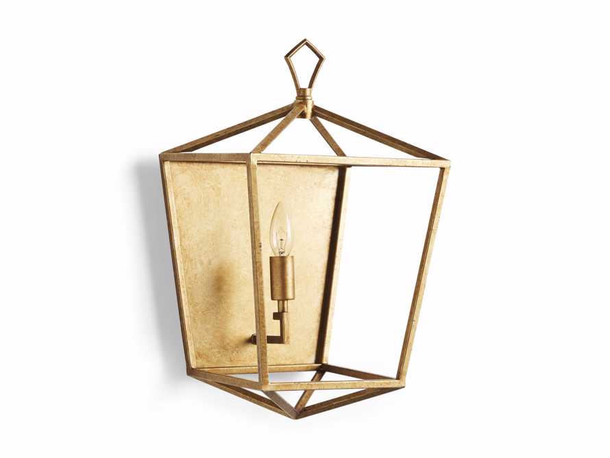 Hemisphere Garnet Wall Sconce in Brass, slide 6 of 7