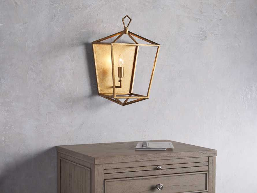 Hemisphere Garnet Wall Sconce in Brass, slide 4 of 7