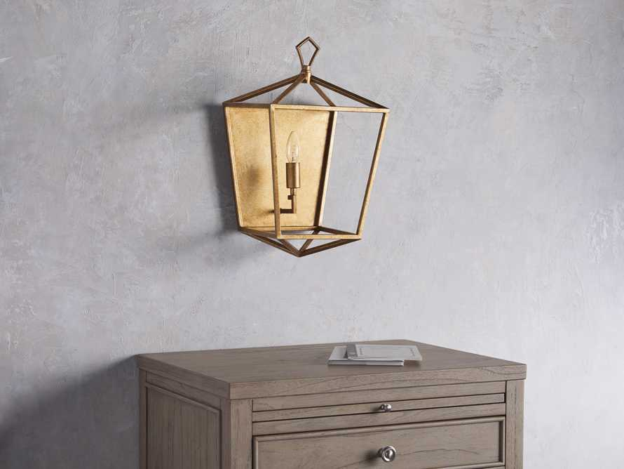 Hemisphere Garnet Wall Sconce in Brass, slide 3 of 7