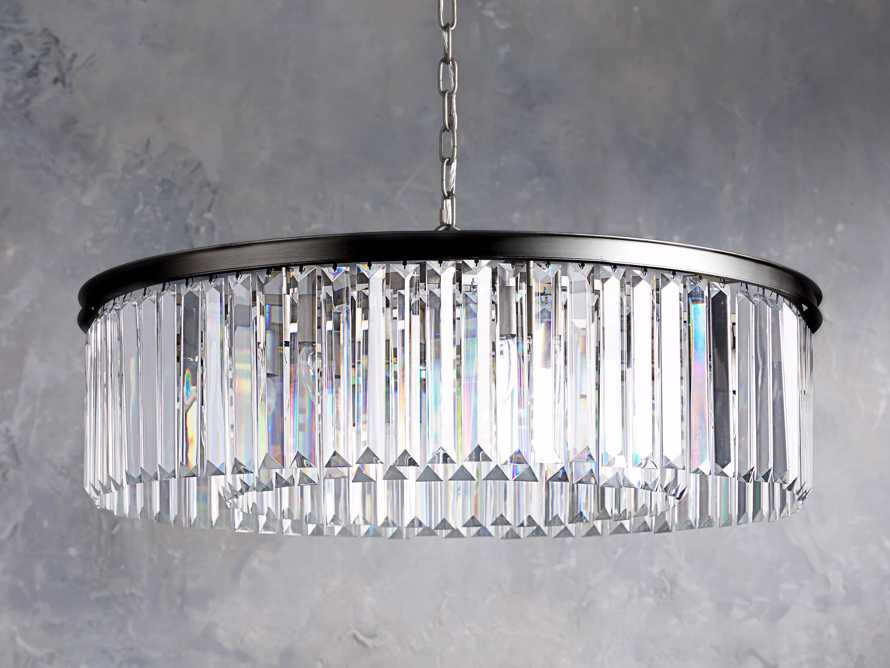 LEYLAND 1-TIER CHANDELIER IN BRONZE, slide 2 of 6