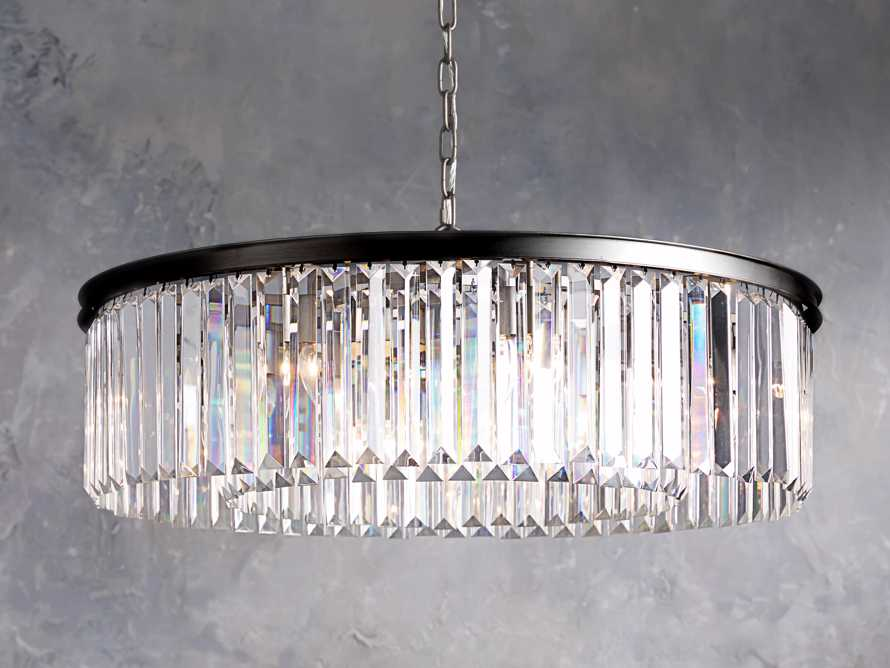 LEYLAND 1-TIER CHANDELIER IN BRONZE, slide 1 of 6