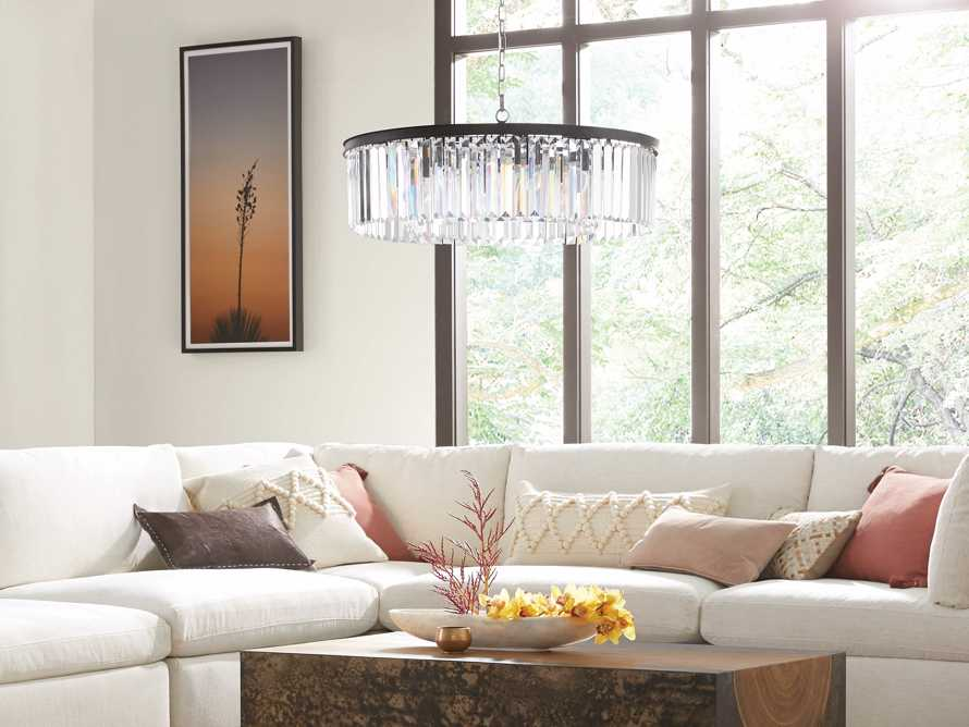 LEYLAND 1-TIER CHANDELIER IN BRONZE, slide 5 of 6
