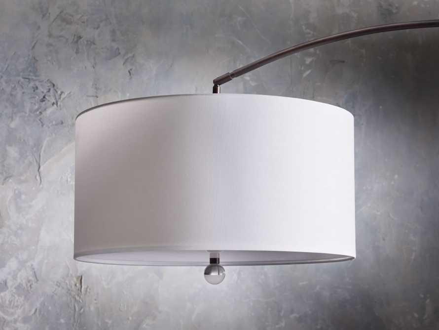 ARC FLOOR LAMP WITH DRUM SHADE IN BRONZE, slide 4 of 6