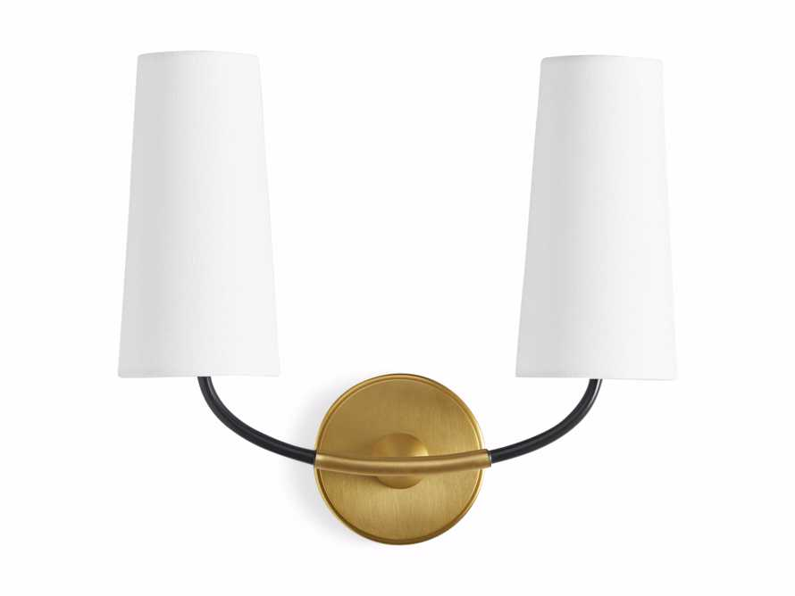 LENNON SCONCE W/ WHITE SHADES, slide 7 of 7