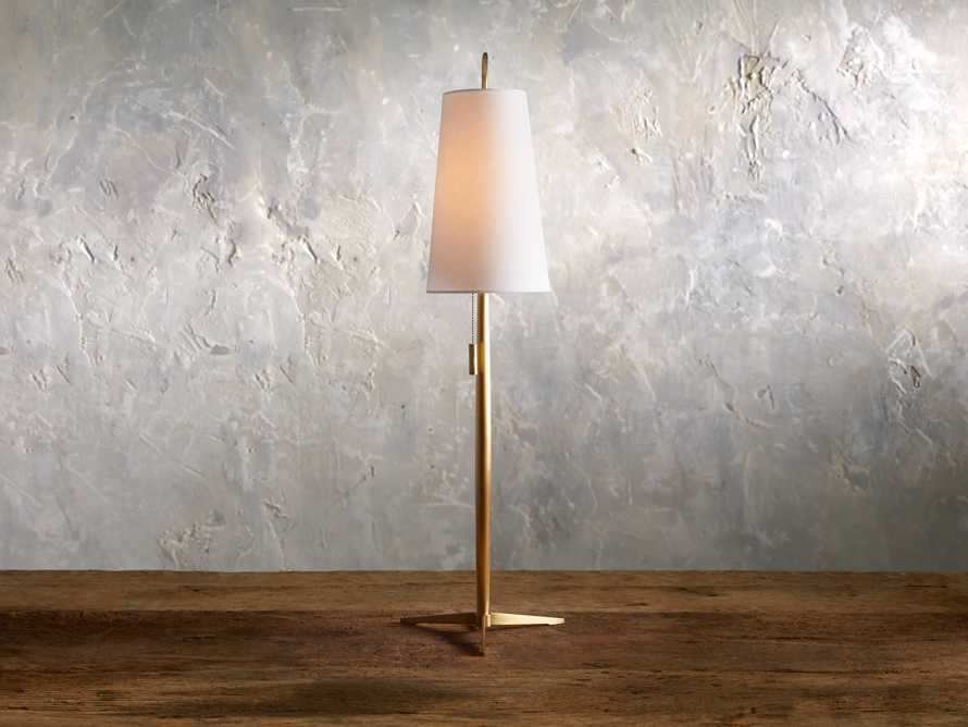 Lancia Table Lamp in Brass, slide 1 of 5