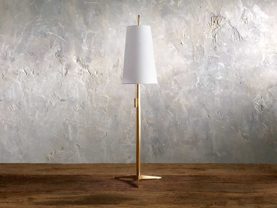 Lancia Table Lamp in Brass, slide 2 of 5