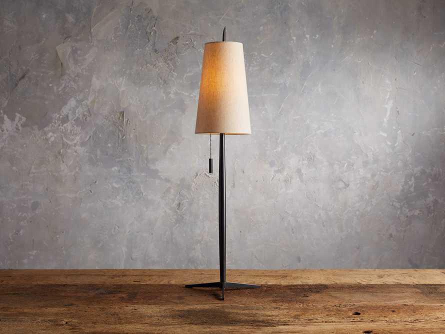 Lancia Table Lamp in Bronze, slide 1 of 5
