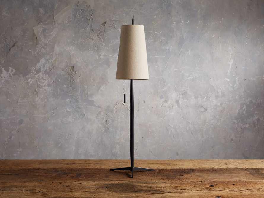 Lancia Table Lamp in Bronze, slide 2 of 5