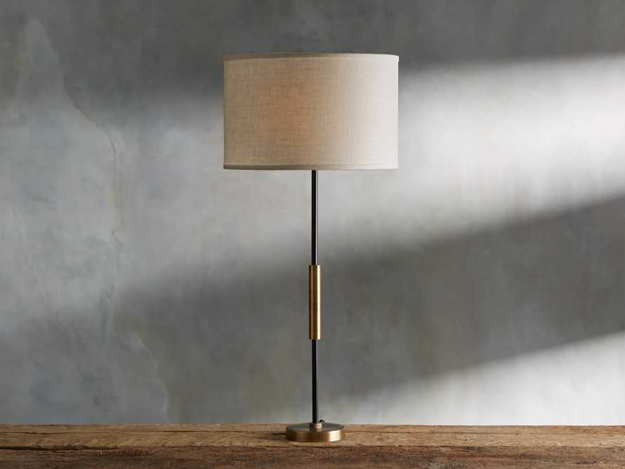 Ardea Table Lamp with Linen Shade, slide 1 of 5