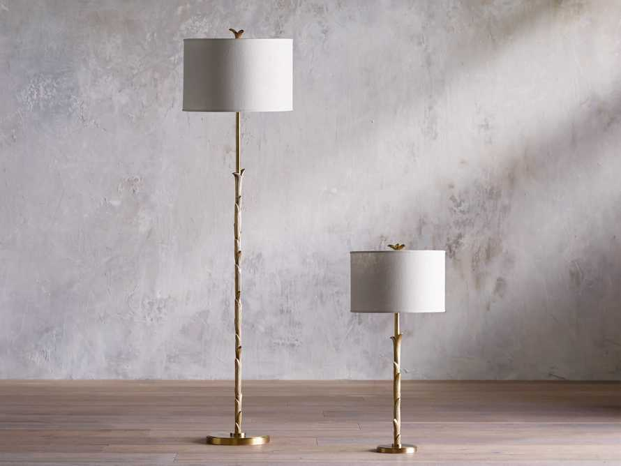 "Flora 17"" Floor Lamp with Ivory Shade, slide 3 of 6"