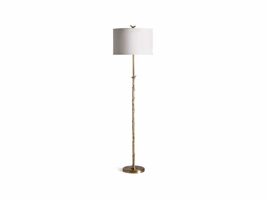 "Flora 17"" Floor Lamp with Ivory Shade, slide 4 of 6"