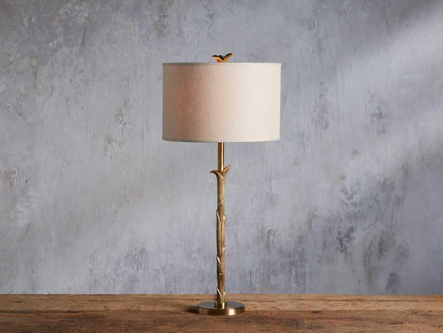 "Flora 14"" Table Lamp with Ivory Shade, slide 1 of 6"