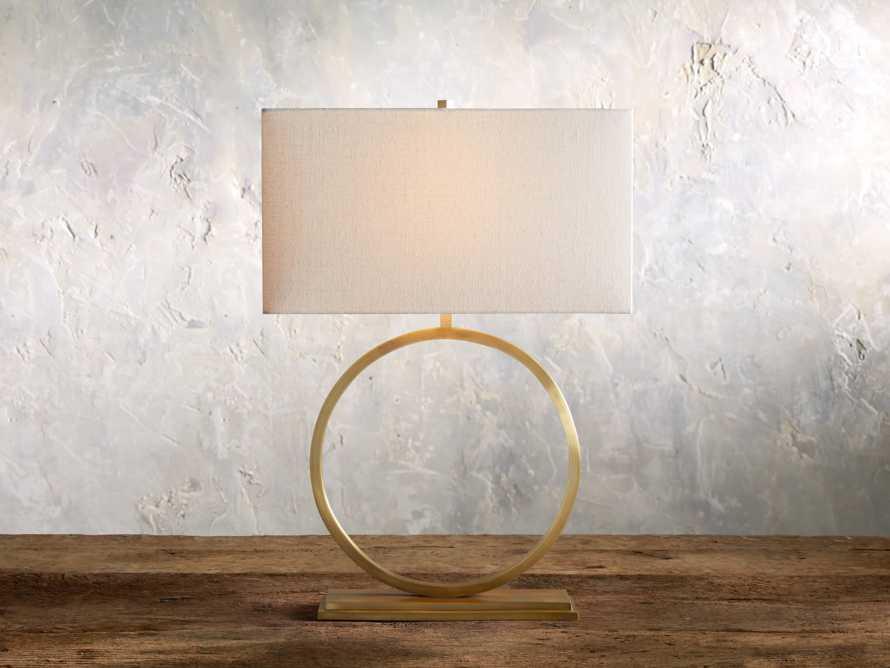 Rhys Table Lamp in Brass, slide 1 of 8