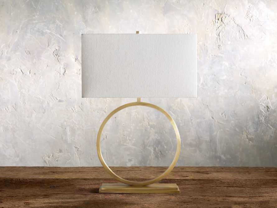 Rhys Table Lamp in Brass, slide 2 of 8