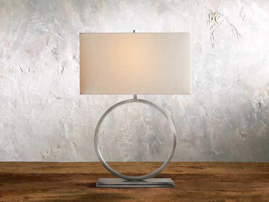 Rhys Table Lamp in Antique Nickel, slide 1 of 7