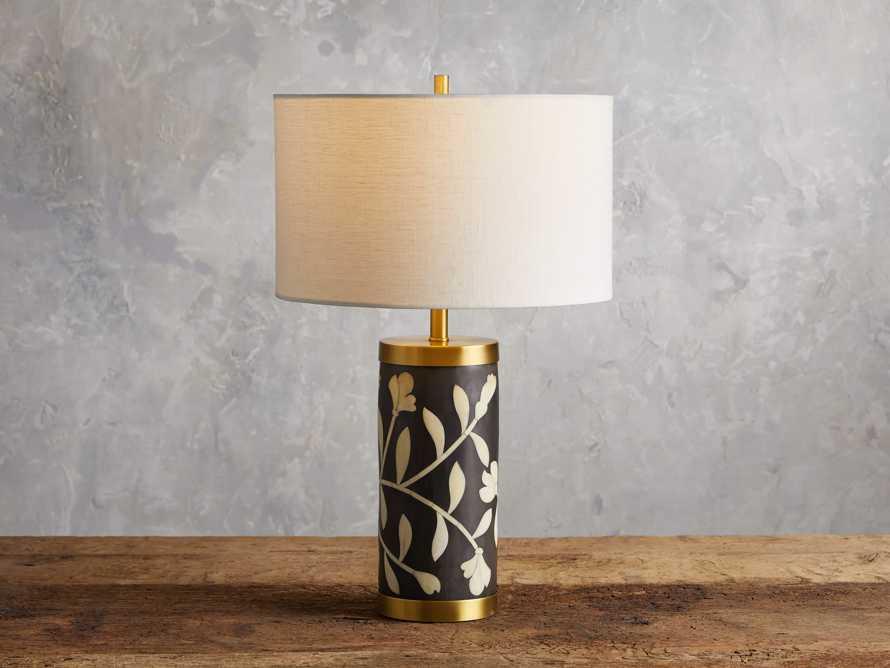 Divya Table Lamp in Black, slide 1 of 4