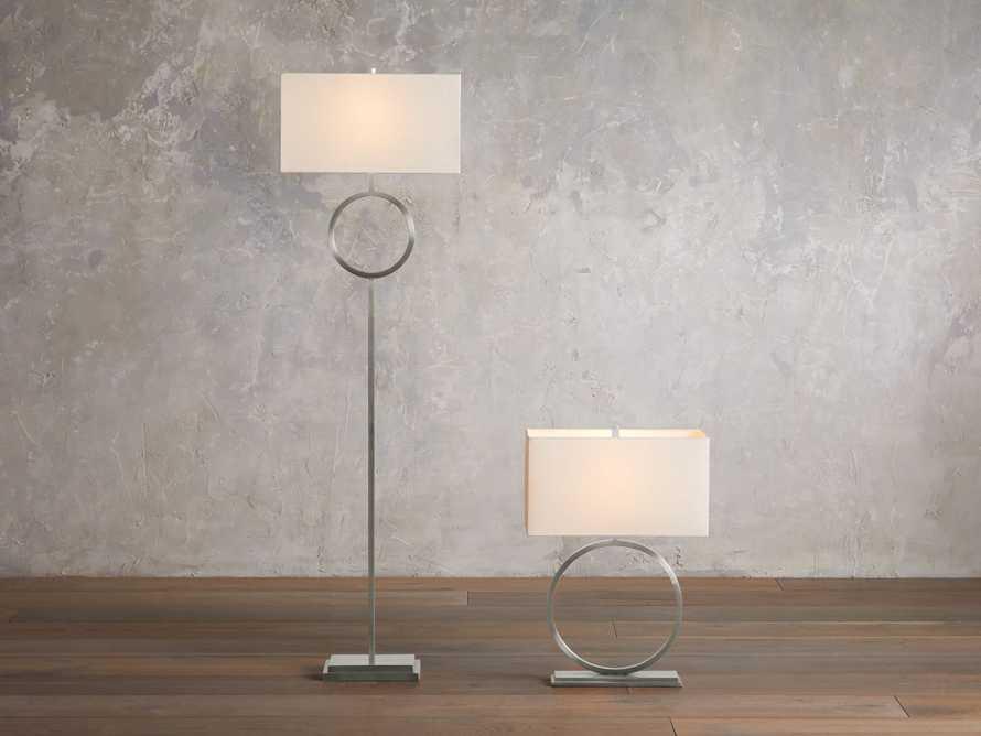 Rhys Nickel Floor Lamp, slide 3 of 5