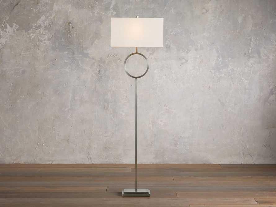 Rhys Nickel Floor Lamp, slide 1 of 5