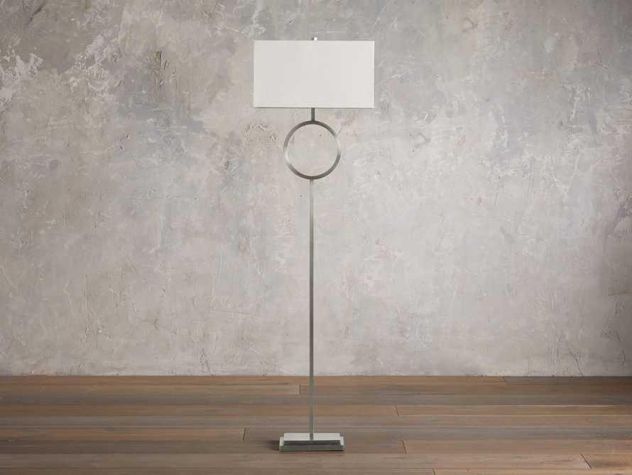 Rhys Nickel Floor Lamp, slide 2 of 5
