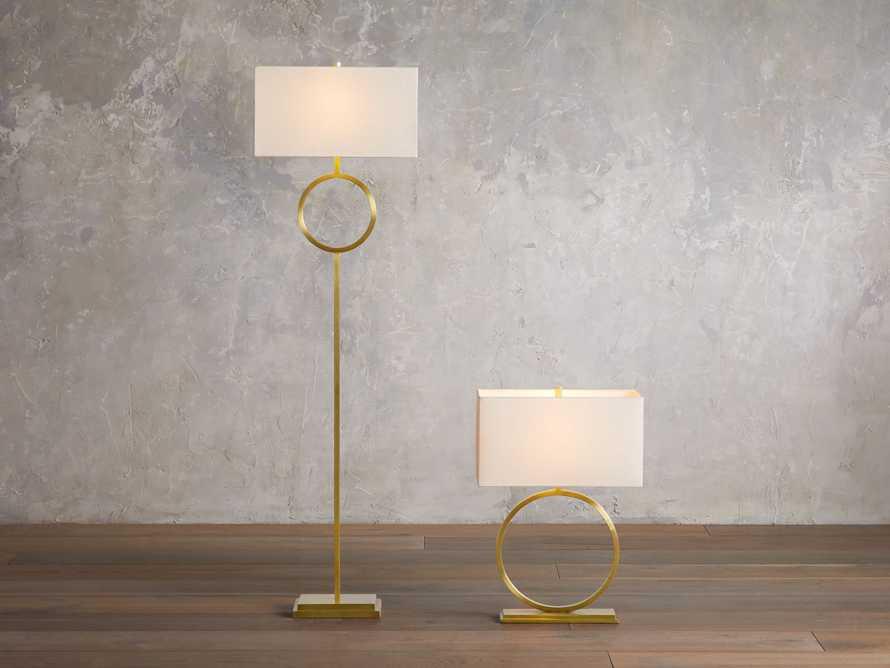 Rhys Brass Floor Lamp, slide 3 of 6