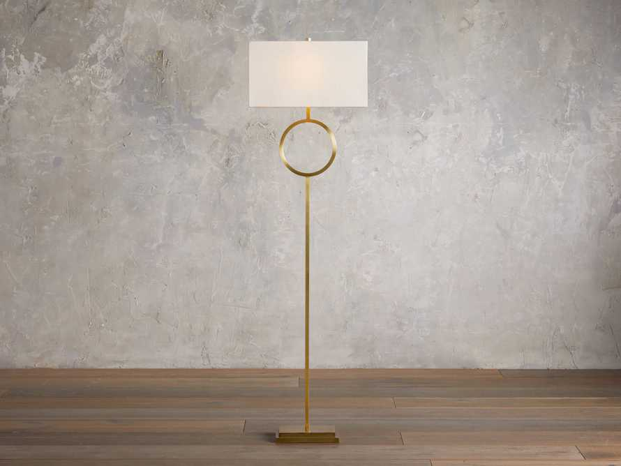 Rhys Brass Floor Lamp, slide 1 of 6