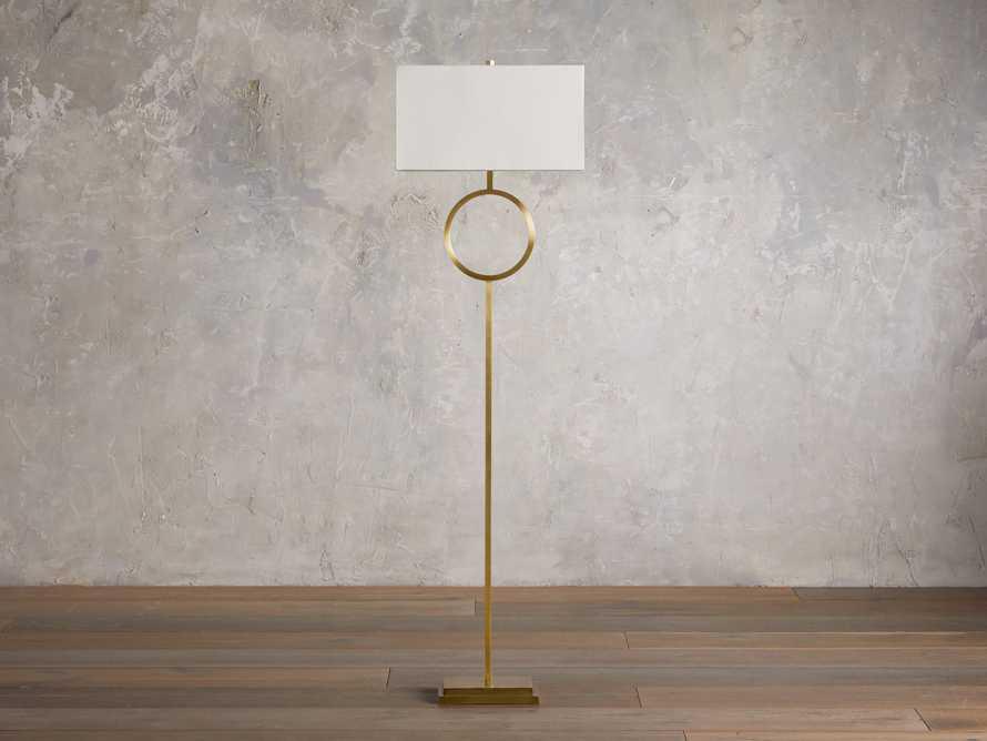 Rhys Brass Floor Lamp, slide 2 of 6