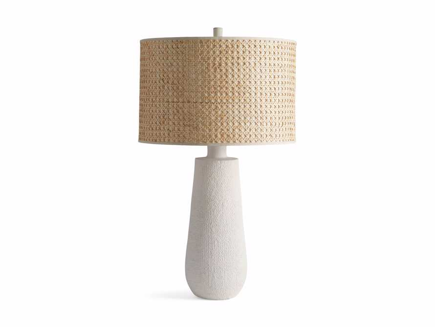 Stucco Table Lamp with Cane Shade, slide 5 of 5
