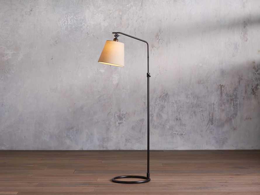 Kellen Bronze Floor Lamp with Linen Shade, slide 1 of 9