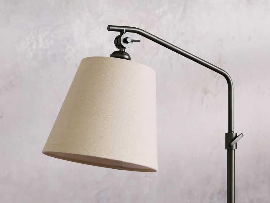 Kellen Bronze Floor Lamp with Linen Shade, slide 3 of 9