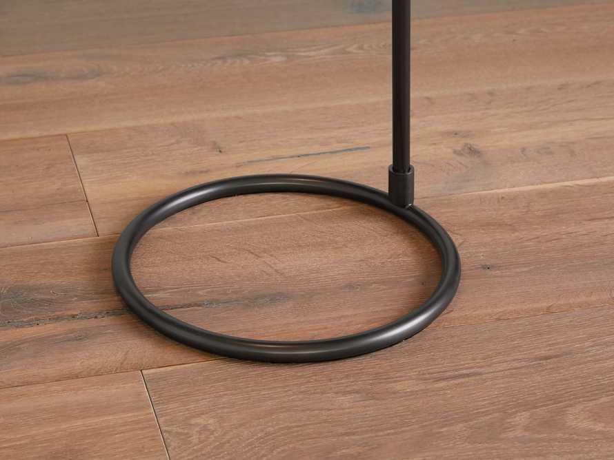 Kellen Bronze Floor Lamp with Linen Shade
