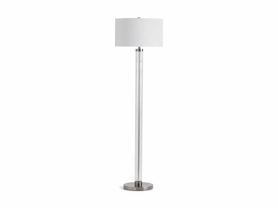 Glass Column Nickel Floor Lamp, slide 4 of 4